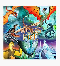 Wings of fire all dragon Photographic Print