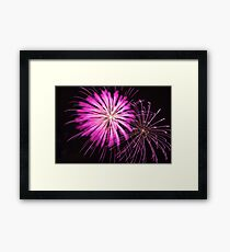 Pink Fire Flowers Framed Print
