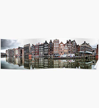 Amsterdam. Damrak pano Poster