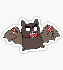 angry zombie bat Sticker