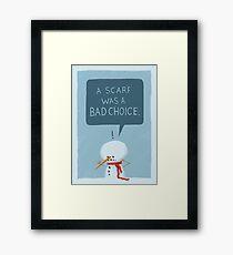 Snowmanity - Scarf Framed Print