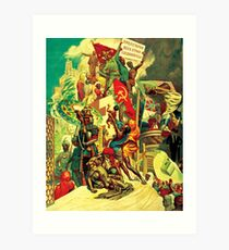 The October Revolution, Breaking the Old Chains and Uplifting Forgotten Peoples Art Print