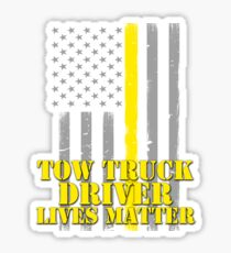Tow Truck Driver Lives Matter Thin Yellow Line American Flag Sticker