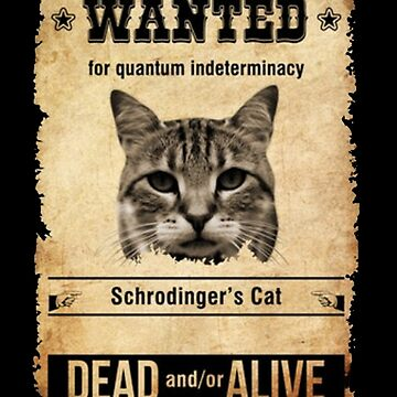Funny Physics T Shirt Gift-Wanted Cat Dead and/or Alive for Women Men by Anna0908