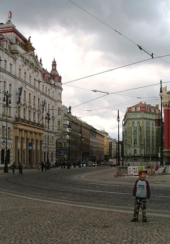 little boy in Prague by Clare Blackman