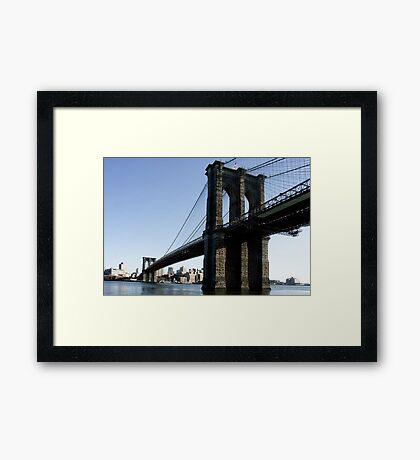 Brooklyn Bridge NY-City Framed Print
