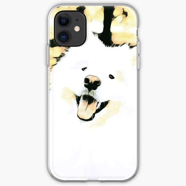 Happy Samoyed iPhone Soft Case