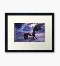 Liberty flag and eagle Framed Print