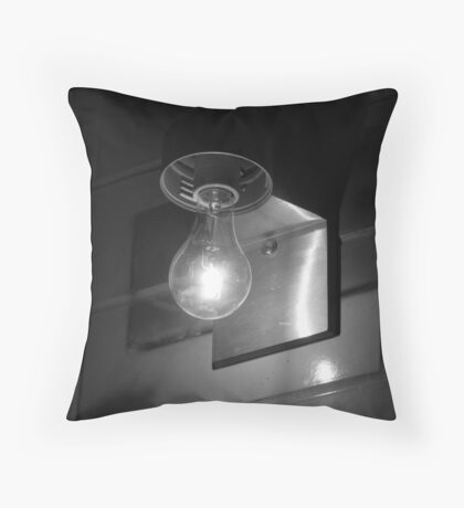 Eureka in b & w Throw Pillow