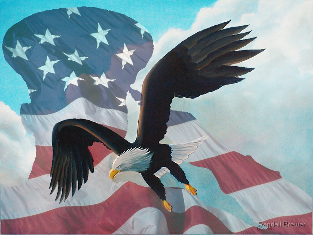Eagle and Saluting Soldier by Randall Brewer
