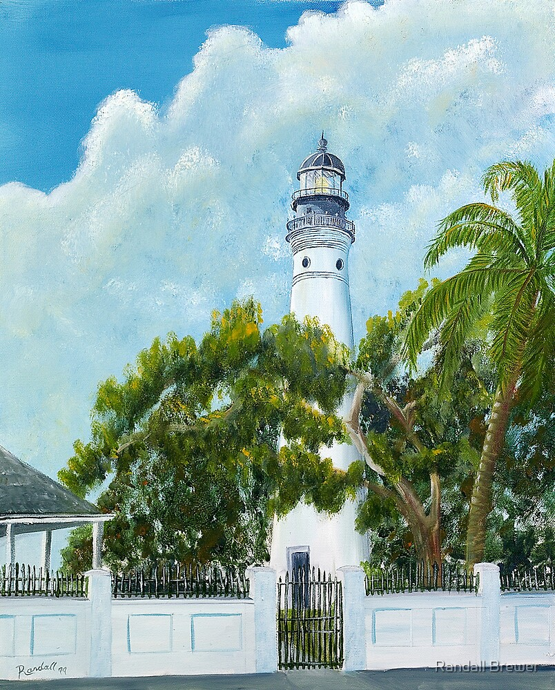 Key West Light by Randall Brewer