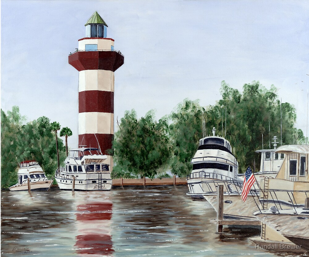 Harbour Town Light by Randall Brewer