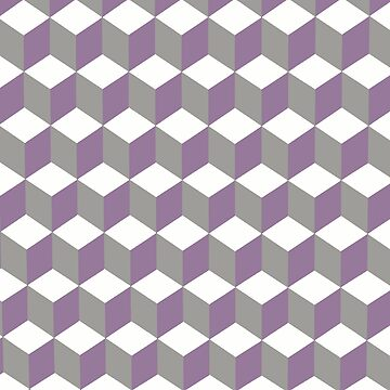 Diamond Repeating Pattern In Crocus Purple and Grey by taiche