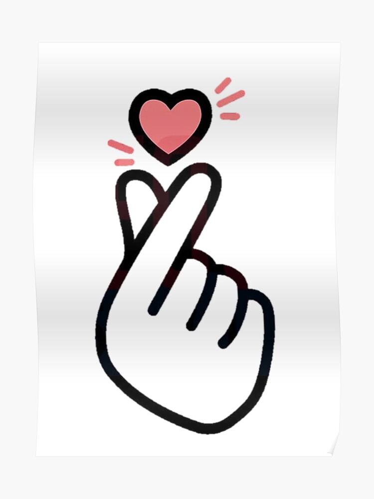 Korean Finger Heart Version 5 (mini design for shirts)   Poster
