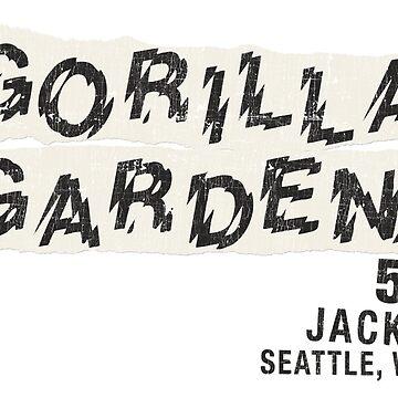 Gorilla Gardens Rock Theater, Seattle Birthplace of Grunge (Vintage, Distressed) by PissAndVinegar