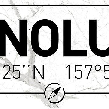 The longitude and latitude of Honolulu by efomylod