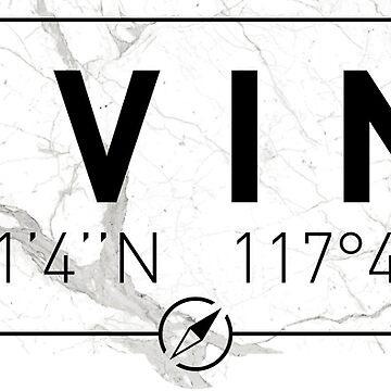 The longitude and latitude of Irvine by efomylod