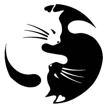 Ying and Yang Cats by GiggleTees