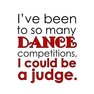 Funny Dance Mom Dad Judge square by Dancethoughts