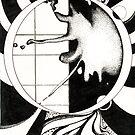 Radiation, Ink Drawing by Danielle Scott