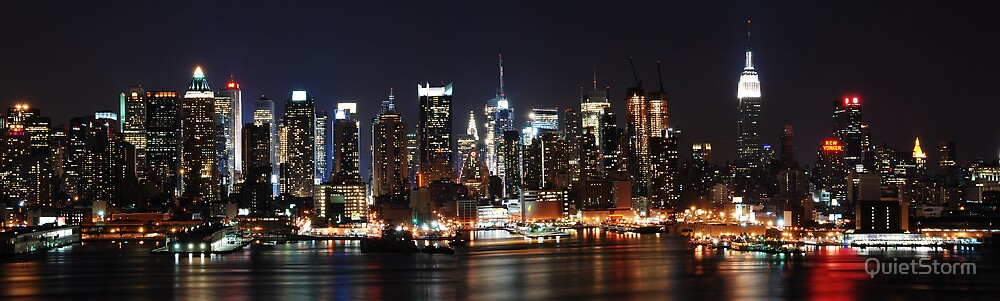 Panoramic View of NYC by QuietStorm