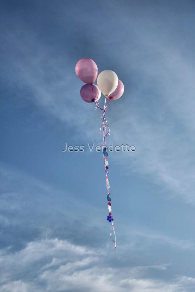 Balloons to Heaven by Jess Vendette