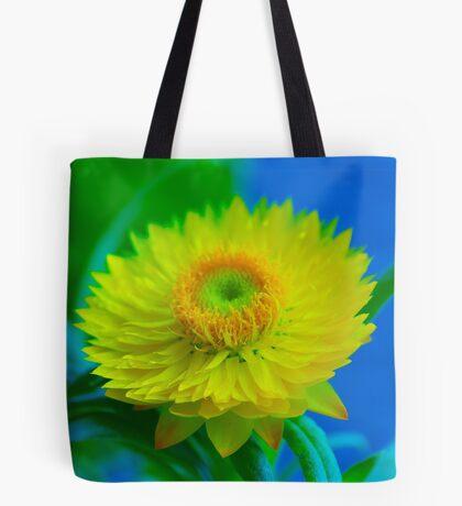 Fuzzy Yellow Tote Bag