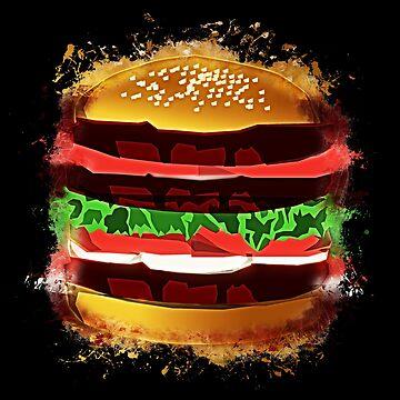 Burger hamburger glowing Art by VincentW91