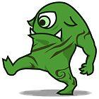 Green Halloween Monster One Eye Hulk Halloween by osamaandosama