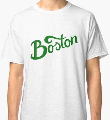 Boston White Hand Lettering Classic T-Shirt