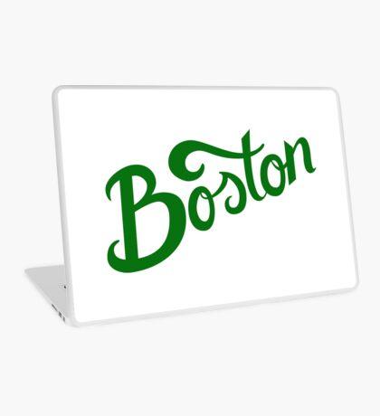 Boston White Hand Lettering Laptop Skin