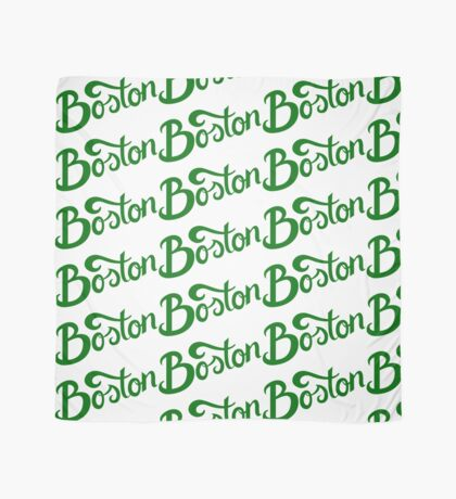 Boston White Hand Lettering Scarf