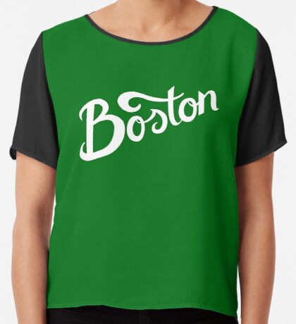 Boston Hand Lettering Chiffon Top