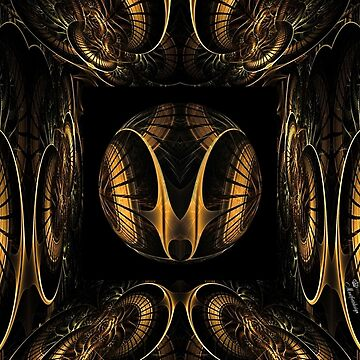 Gold snails - from the series Digital Art by comtessek