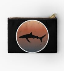 Blue Shark on Dark Sunset Colors Studio Pouch