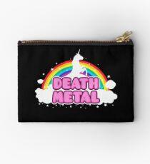 DEATH METAL! (Funny Unicorn / Rainbow Mosh Parody Design) Studio Pouch