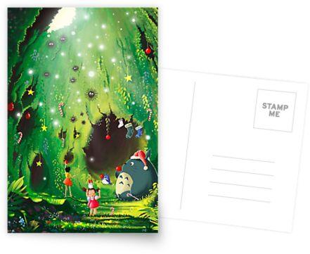 Totoro Christmas Card by Roberto Nieto