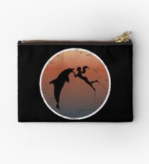 Dolphin kiss on dark sunset colors Studio Pouch