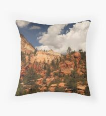 Sandstone Formations, Zion National Park Throw Pillow