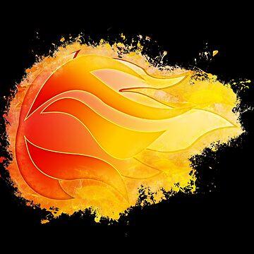 Fire blast glowing Art by VincentW91