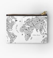 Typography World Map. Studio Pouch
