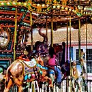 Merry Go Round With Elephants by Susan Savad