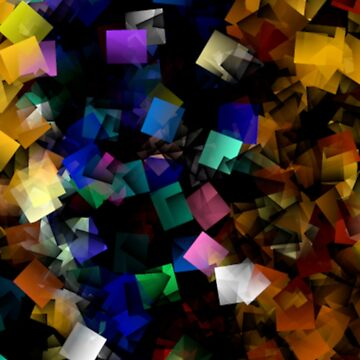 Abstract Fantastic Colorful Cubes by thunderteam79