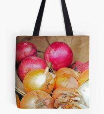 Onions in a barrel Tote Bag