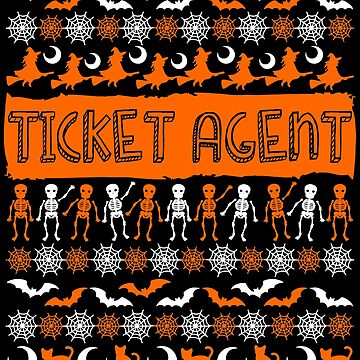 Cool Ticket Agent Ugly Halloween Gift t-shirt by BBPDesigns