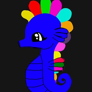 Cute Colorful Sea Horse by yoddel