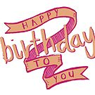 Pink Banner Birthday Card by Annie Royal