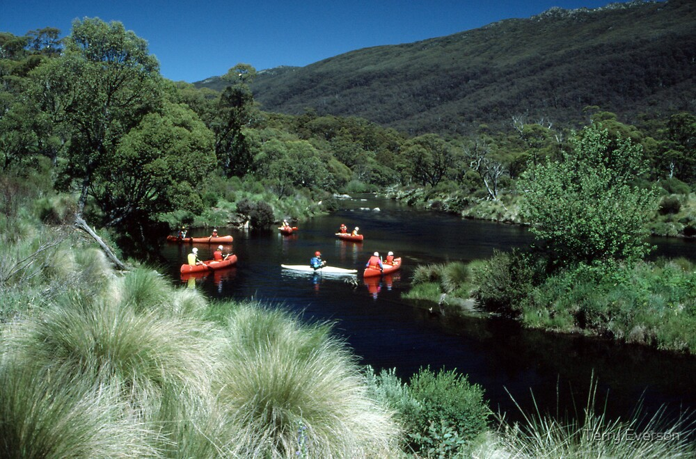 Canoeing the Thredbo River by Terry Everson
