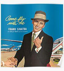 "Frank Sinatra ""Komm flieg mit mir"" Print Poster"