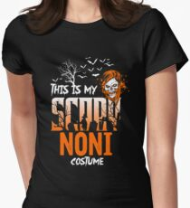 This is my scary Noni Costume Funny Gift. Women's Fitted T-Shirt